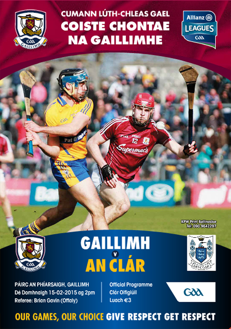 2015 Galway v Clare Allianz Hurling League